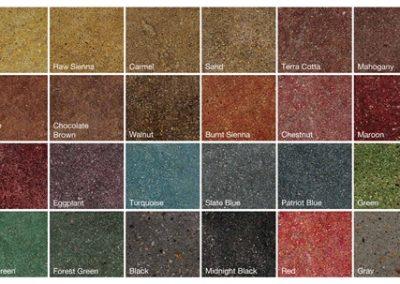 Concrete Dye Chart